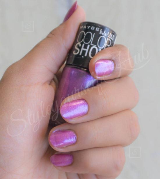 Color Show Devil Wears Purple Nail Polish