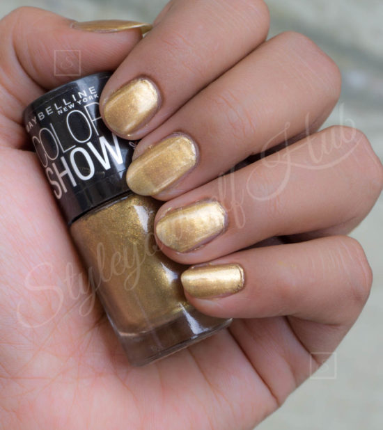 Color Show Burnished Gold Nail Polish