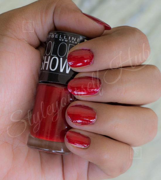 Color Show Downtown Red Nail Polish