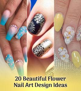 20 Beautiful Flower Nail Art Designs