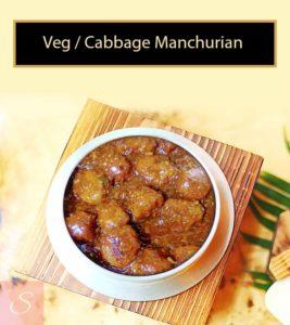 Veg / Cabbage Manchurian Recipe