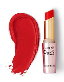 lakme-9to5-red-lipstick