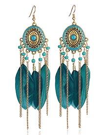 Peacock Green Earrings