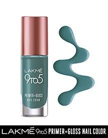 Lakme 9to5 Nail Polish Peacock Green
