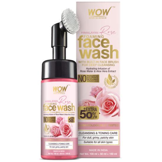 WOW Skin Science Himalayan Rose Foaming Face Wash