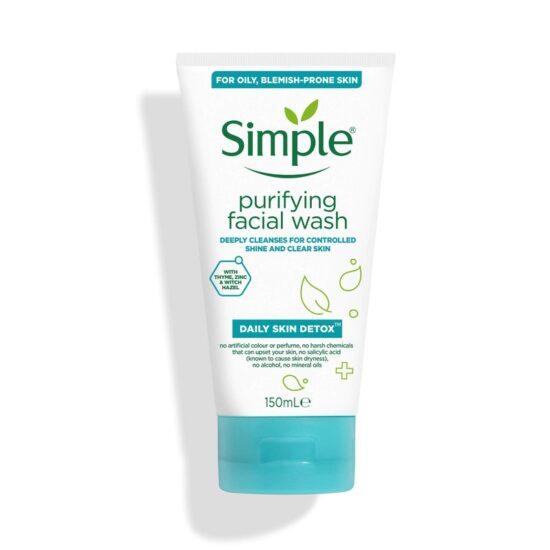 Simple Daily Skin Detox Purifying Facial Wash