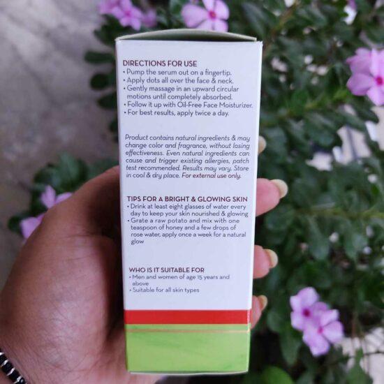 Mamaearth Skin Illuminate Face Serum how to use